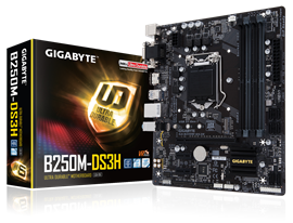 Gigabyte B250M-DS3H Intel Socket 1151 Motherboard *Open Box*