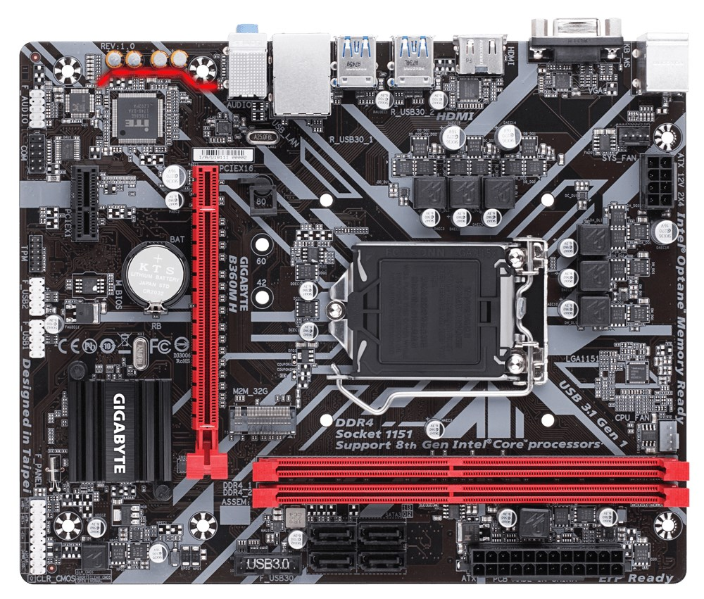Gigabyte B360M H mATX Motherboard for Intel LGA1151 CPUs