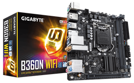 Gigabyte B360N WIFI Intel Socket 1151 B360 Chipset Coffee Lake Mini-ITX Motherboard *Open Box*