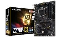 Gigabyte Ultra-Durable GA-Z270P-D3 Motherboard 6th/7th Gen Intel i3/i5/i7/Pentium/Celeron 1151 Socket Realtek GbE ATX DDR4 (Integrated Graphics) *Open Box*