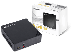 Gigabyte Brix Ultra Compact PC Barebone - Intel Core i3-7100U, M.2 Support