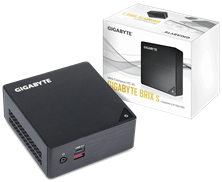 Gigabyte Brix Ultra Compact PC Barebone - Intel Core i7-7500U, M.2 & 2.5 inch HDD Support