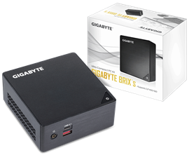 Gigabyte Brix Ultra Compact PC Barebone - Intel Core i3-7100U, M.2 & 2.5 inch HDD Support
