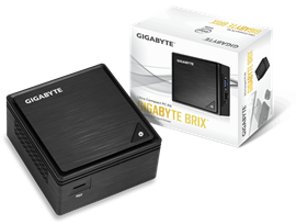 Gigabyte BRIX GB-BPCE-3455 Ultra Compact PC Kit Intel Celeron J3455 (2.3 GHz) WLAN Gigabit LAN (Intel HD Graphics 500)