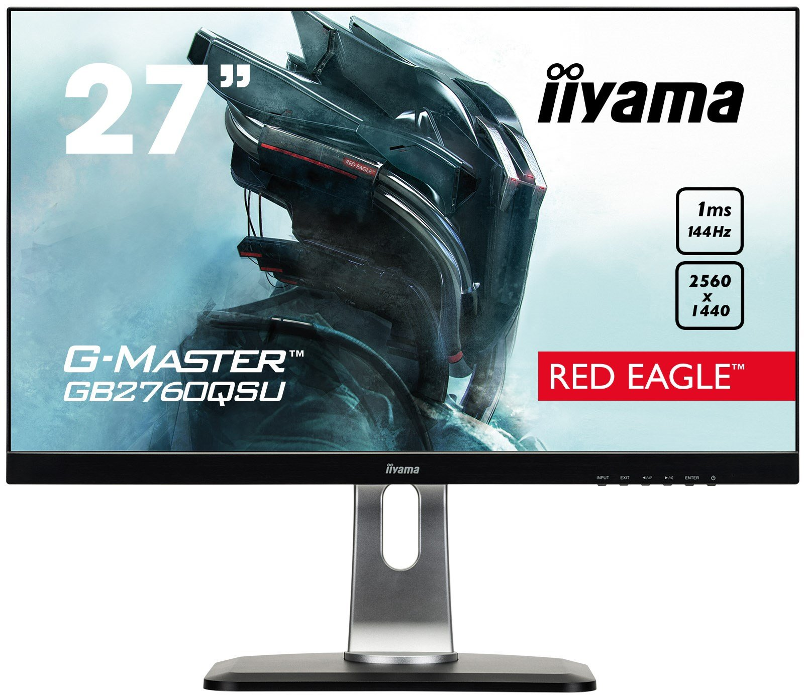 iiyama G-Master Red Eagle 27 inch LED 144Hz 1ms Gaming Monitor, 1ms