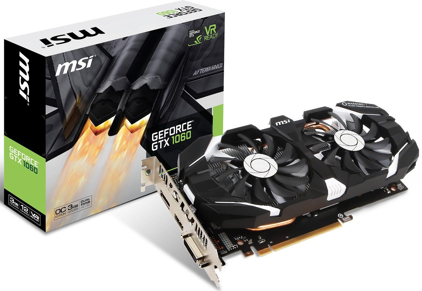 MSI GeForce GTX 1060 3GB Graphics Card - GEFORCE GTX 1060 3GT OC
