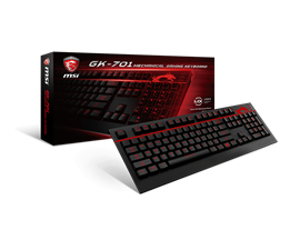 MSI GK-701 Mechanical Gaming Keyboard with Cherry MX Brown Keys, Red Backlight (UK Layout)