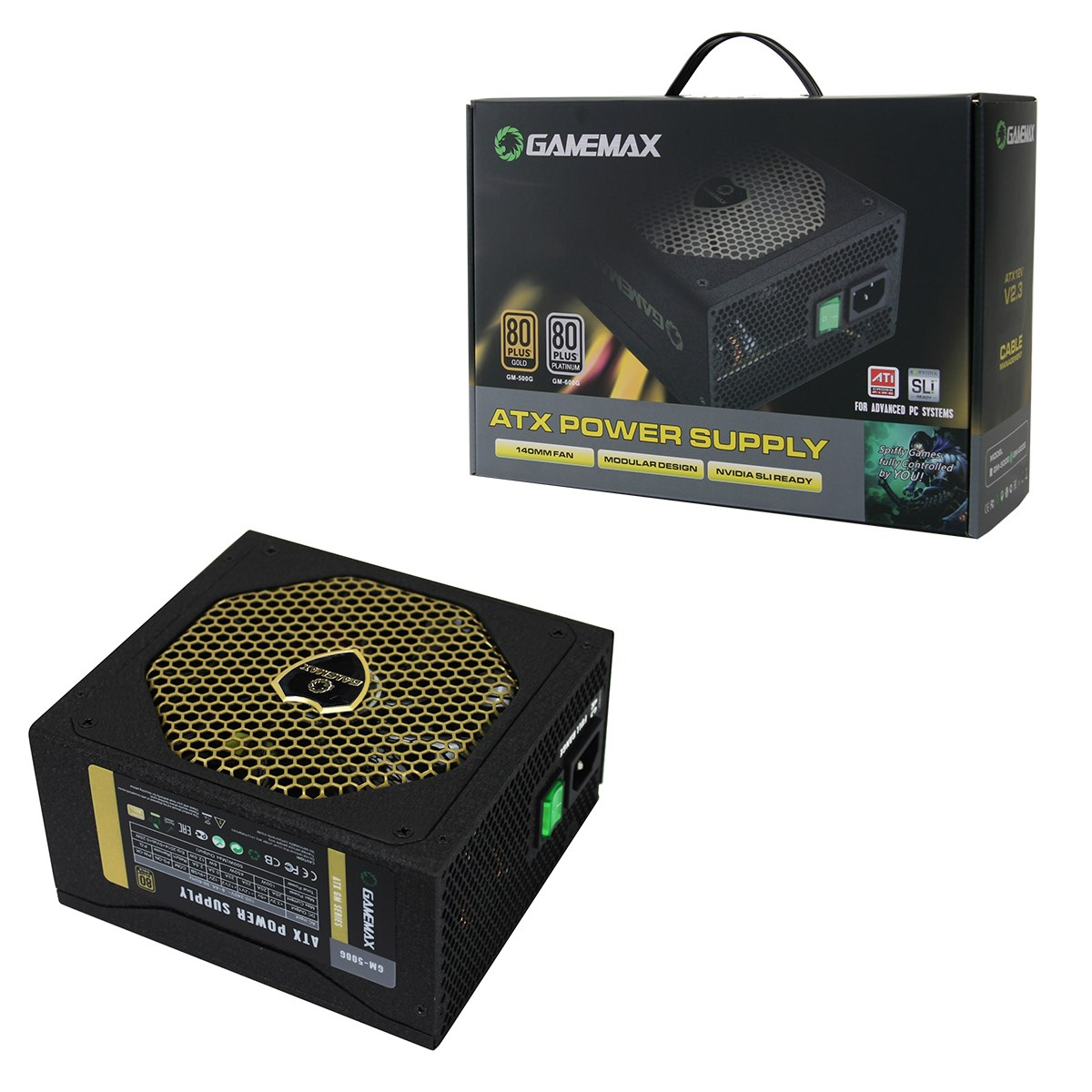 game max gm w modular power supply plus gold gm g game max gm500 500w modular 80 gold psu
