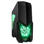 Game Max Destroyer Gaming Midi Tower Case w/Green LED Fans