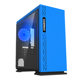 Game Max Expedition Mid Tower Gaming Case - Blue