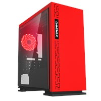 GameMax Expedition Mid Tower Gaming Case - Red USB 3.0