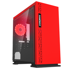 Game Max Expedition Mid Tower Gaming Case - Red