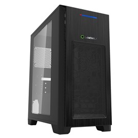 Game Max Mini Kallis Mid Tower Gaming Case - Black