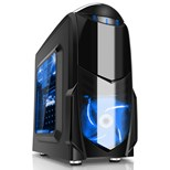 Game Max Nero Black mATX Case with Front 12cm Blue LED Fan