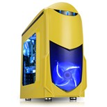 Game Max Nero Yellow mATX Case with Front 12cm Blue LED Fan