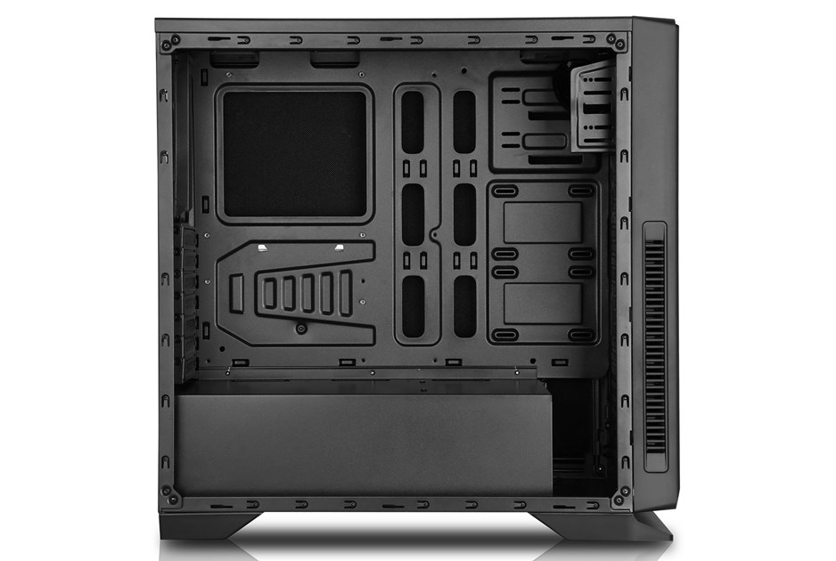 game max silent black midi tower gaming case usb 3 0 gmx silent ccl computers. Black Bedroom Furniture Sets. Home Design Ideas