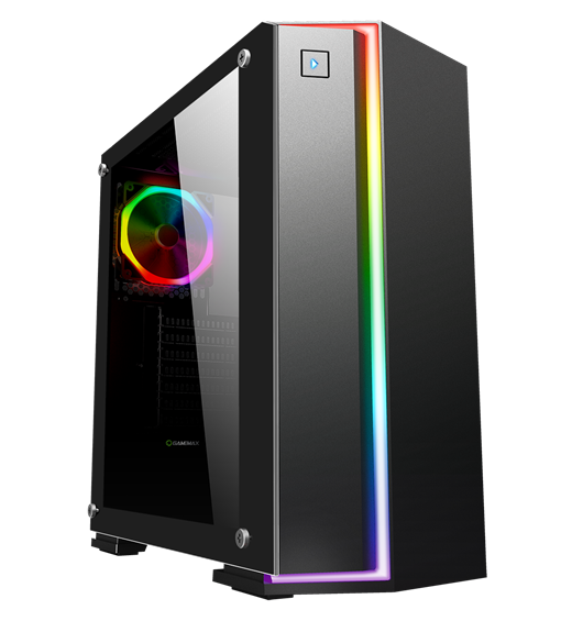 Game Max Starlight Mid Tower Gaming Case - Black