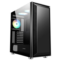 GameMax Stealth Mid Tower Gaming Case - Black USB 3.0