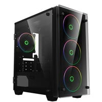 GameMax Stratos Mini Mid Tower Gaming Case - Black USB 3.0
