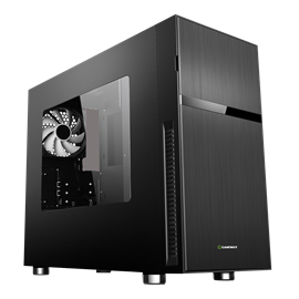 Game Max Whisper Mid Tower Case - Black