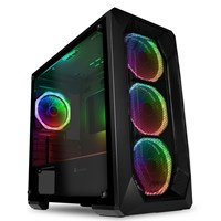 GameMax Kamikaze Pro Mid Tower Gaming Case - Black USB 3.0