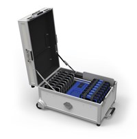 Bundle: LapCabby GoCabby GOCAB16CO (16 Device) Tablet Charging Cart (Silver)  Complete with a Charge Only Boost+