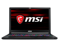 MSI GS63 Stealth 8RE 15.6 Laptop - Core i7 2.3GHz, 16GB RAM, 1TB