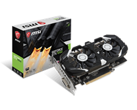 MSI GeForce GTX 1050 2GB Boost Graphics Card