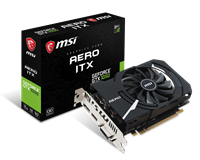 MSI GeForce GTX 1050 2GB AERO ITX Graphics Card