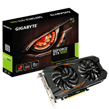 Gigabyte GeForce GTX 1050 Windforce 2GB Card