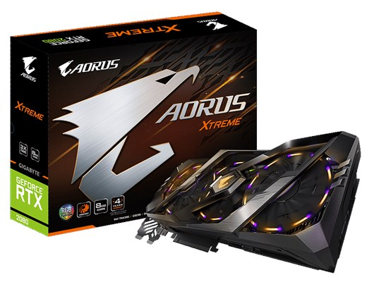 Gigabyte AORUS GeForce RTX 2080 XTREME (8GB) Graphics Card PCI Express 3.0 DisplayPort/HDMI/USB Type-C *Open Box*