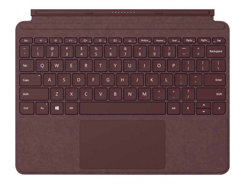 Microsoft Surface Go Signature Type Cover - Burgundy UK Layout
