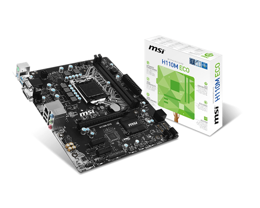 MSI H110M ECO Intel Socket 1151 Motherboard
