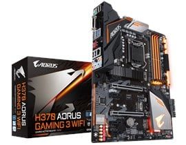 Gigabyte AORUS Gaming 3 WiFi Intel 1151 H370 Motherboard (ATX) RAID WLAN Gigabit LAN (Intel HD Graphics) *Open Box*