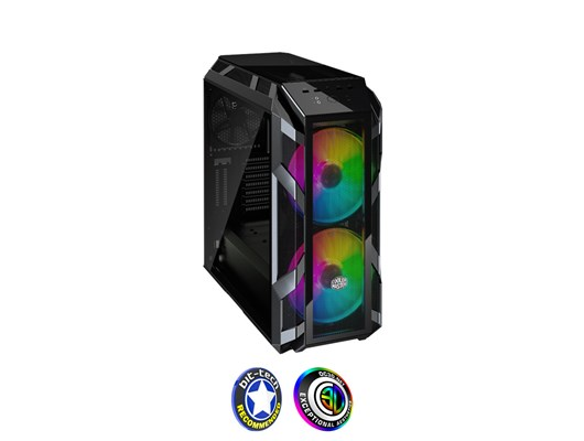 Cooler Master MasterCase H500M Mid Tower Case with Tempered Glass, 2x 200mm RGB Fans, E-ATX, ATX, mATX and ITX Support *Open Box*