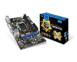 MSI H81M-P33 Intel Socket 1150 Motherboard