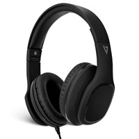 V7 3.5mm Over-Ear Stereo Headphones with Mic - Black