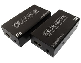HDMI Over CAT5/6 Extender (Black) up to 30m