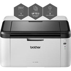 Brother HL-1210W (A4) Wireless Ready Mono Laser Printer 32MB LED Display 20ppm (Mono) 1,800 (MDC)