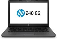 HP 240 G6 14 Laptop - Core i3 2.5GHz, 8GB RAM, 1TB HDD, Windows 10