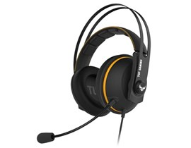 Asus TUF Gaming H7 7.1 Gaming Headset 53mm Driver 3.5mm Jack (USB Adapter) Boom Mic Virtual Surround Stainless-Steel Headband Yellow