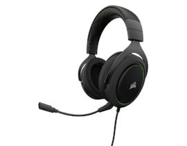 Corsair HS50 Stereo Gaming Headset with Microphone (Carbon/Green) (EU)