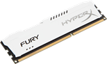 HyperX FURY White 4GB (1 x 4GB) Memory Module 1333MHz DDR3 Non-ECC CL9 1.5V Unbuffered