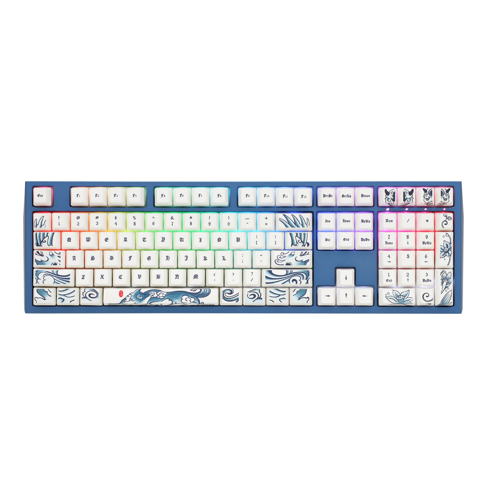 Ducky Year Of The Dog Special Edition Usb Mechanical Keyboard With Scsi To Rj45 Wiring Diagram Cherry Mx Brown Switches