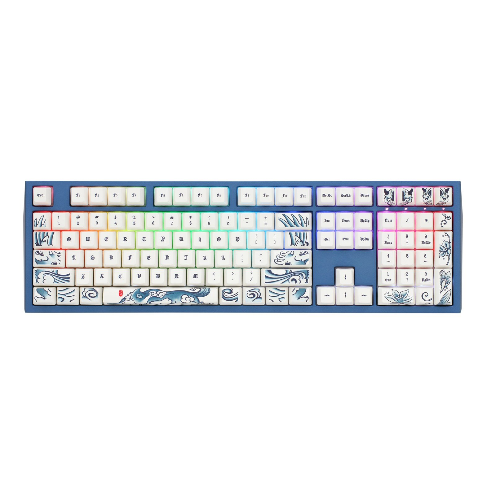 Ducky Year Of The Dog Special Edition Usb Mechanical Keyboard With Mx 650 Wiring Diagram Cherry Silent Red Switches