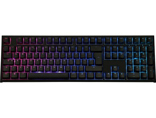 Ducky One2 RGB USB Mechanical Keyboard with Cherry MX Black Switches
