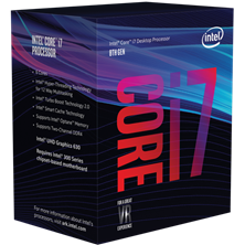 Intel Core i7 8700 3.2GHz Hexa Core (Socket 1151)