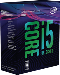 Intel Core i5-8600K 3.6GHz 6-Core, 6-Thread Unlocked Processor for Socket 1151 (No Cooler) *Open Box*