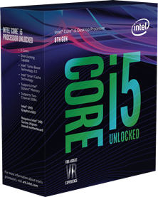 Intel Core i5 8600K 3.6GHz Hexa Core (Socket 1151)