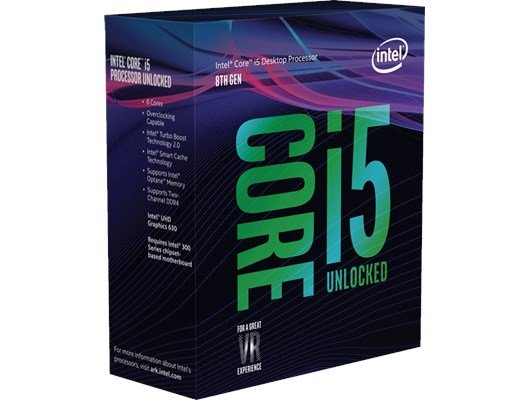 Intel Core i5 8600K 3.6GHz 6 Core CPU